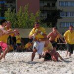 I turniej w rugby plażowym o puchar ceramiki bolesławieckiej. 20.08.2005 Bolesławiec